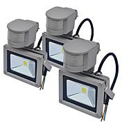 JIAWEN 10W LEDフラッドライト 自動タイプ 屋外照明 温白色 クールホワイト AC85-265 AC85-265V