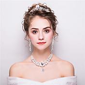 女性用 ラインストーン ファッション ラインストーン ドロップ イヤリング・ピアス 髪飾り ネックレス 用途 結婚式 パーティー ウェディングギフト