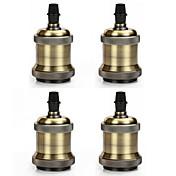 4 pcs e26 / e27 bulbos del tornillo del zócalo edison retro minimalista soporte de la lámpara colgante vintage sin cable e interruptor