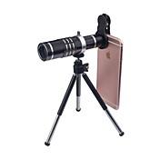 3 en 1 kit de lentes para el teléfono inteligente 18x zoom óptico lente para teleobjetivo 0.45x lente gran angular 15x macro lente mini