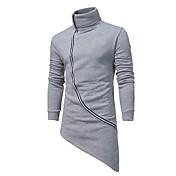 Herrer I-byen-tøj Afslappet/Hverdag Simple Boheme Gade Plusstørrelser Sweatshirt Ensfarvet Rullekrave Bomuld Polyester Mikroelastisk