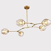 norte de europa cosecha araña 5 cabezas vidrio moléculas luces colgantes sala de estar dormitorio comedor lámparas