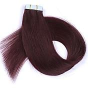 16''18''20''22 '' 24 ''本物の人間の髪の延長のテープストレート20本の髪のテープ