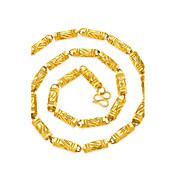 男性用 チェーンネックレス スクエア 幾何学形 ゴールドメッキ 幾何学形 ヒップホップ ジュエリー 用途 ストリート クラブ