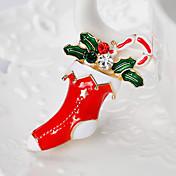 broches de las mujeres lindo estilo chrismas rhinestone alloy jewelry para regalo de navidad