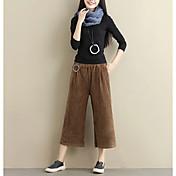 Mujer Simple Microelástico Chinos Pantalones,Chinos Un Color