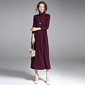Mujer Sofisticado Chic de Calle Pullover - Un Color Cuello Alto