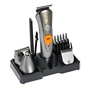 kemei km-580a maquinilla de afeitar eléctrica afeitadora 7 en 1 maquinilla de afeitar nariz cortadora de pelo cortapelos eléctrico