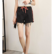 Mujer Casual Tiro Medio Microelástico Delgado Vaqueros Shorts Pantalones,Bloques Verano