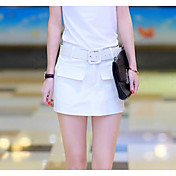 Mujer Sensual Tiro Alto Microelástico Corte Recto Chinos Pantalones,Un Color Verano