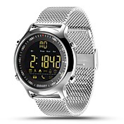 hhy ex18スマート腕時計ブレスレットスチールバンドニュースプッシュ発光ダイヤルプロのストップウォッチ50メートルスーパー防水