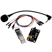 geeetech de reconocimiento de voz del micrófono kit del módulo + usb para módulo TTL rs232 + cable de puente