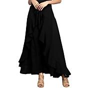 Mujer Vacaciones Discoteca Maxi Faldas,Corte Sirena Otoño Un Color