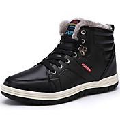 Hombre Zapatos Cuero de Napa Invierno Confort Botas Con Cordón Para Negro Azul Oscuro Marrón