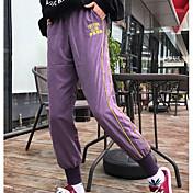 Hombre Casual Tiro Medio Microelástico Ajustado Pantalones,A Rayas Otoño
