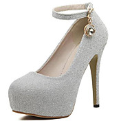 Mujer Zapatos Purpurina Primavera Otoño Confort Pump Básico Tacones Para Vestido Fiesta y Noche Negro Plata Púrpula Claro