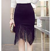 Mujer Asimétrico Faldas,Corte Bodycon
