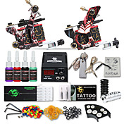 kits de tatuaje de iniciación dragonhawk® 2 forro de máquina de hierro fundido& Shader lcd fuente de alimentación kit completo