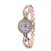 Mujer Reloj de Vestir Reloj Pulsera Reloj de Pulsera Simulado Diamante Reloj Chino Cuarzo La imitación de diamante Aleación Metálica Banda
