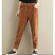 Mujer Simple Tiro Medio Chinos Pantalones,Chinos Un Color