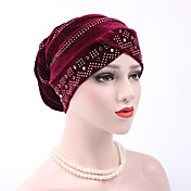 Mujer Lentejuelas, Algodón Sombrero Floppy - Casual Un Color