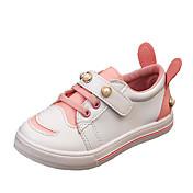 Chica Zapatos PU Invierno Otoño Confort Zapatillas de deporte Perla de Imitación para Casual Rojo Verde Rosa