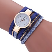 Mujer Reloj Casual Reloj de Moda Reloj Pulsera Chino Cuarzo La imitación de diamante PU Banda Casual Bohemio Borlas Negro Blanco Azul