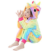 Pijama kigurumi Caballo volador Unicorn Pijama Mono Pijamas Disfraz Franela Amarillo Cosplay por Niño Ropa de Noche de los Animales