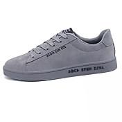 Hombre Zapatos Tejido Primavera Verano Confort Zapatillas de deporte Con Cordón para Casual Negro Gris