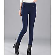 Mujer Un Color Legging - Un Color Media cintura