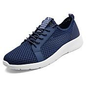 Zapatos PU Primavera Otoño Confort Zapatillas de deporte para Al aire libre Negro Gris Azul
