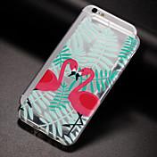 Funda Para Apple iPhone X iPhone 8 Plus iPhone 7 iPhone 6 Funda iPhone 5 Traslúcido Diseños Cubierta Trasera Flamenco Suave TPU para