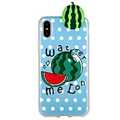 Funda Para Apple iPhone 7 iPhone 6 Diseños Manualidades Cubierta Trasera Dibujo 3D Fruta Suave TPU para iPhone X iPhone 8 Plus iPhone 8
