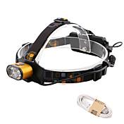 HKV Linternas de Cabeza / Lámpara LED 1000lm 3 Modo de Iluminación Portátil / Resistente al Agua / Vida Camping / Senderismo / Cuevas /