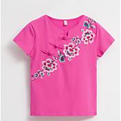 Mujer Básico Camiseta Floral