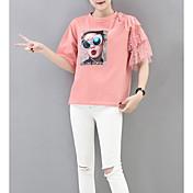 Mujer Algodón Camiseta Retrato