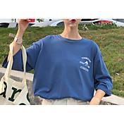 camiseta de mujer - carta de cuello redondo