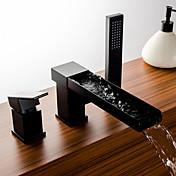 Grifo de bañera - Arte Decorativa / Retro Tradicional Bronce Aceitado Muy Difundido Válvula Cerámica