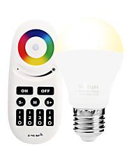 6W Smart LED-lampe A60(A19) 14 SMD 5050 600 lm RGB RGB + Varm Infrarød sensor Dæmpbar Fjernstyret WIFI APP kontrol LysstyringVekselstrøm