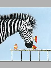 Pintados à mão Animal Estilo Moderno 1 Pça. Tela Pintura a Óleo For Decoração para casa