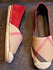 Dámské Boty Pravá kůže Jaro Podzim Pohodlné Nokasíny Pro Ležérní Červená