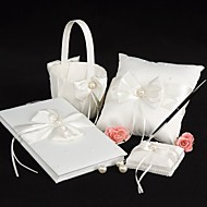 cheap Wedding Ceremony-Garden Theme Collection Set 53 Bowknot Faux Pearl Satin