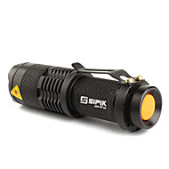 cheap -SK68 LED Flashlights / Torch LED 200lm 1 Mode Zoomable / Adjustable Focus / Rechargeable Camping / Hiking / Caving / Everyday Use