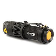 halpa -SK68 LED taskulamput LED 200lm 1 lighting mode Zoomable / Säädettävä fokus / Ladattava Telttailu / Retkely / Luolailu / Päivittäiskäyttöön