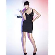 Cintas de coração / coluna de coração curto / mini vestido de chiffon com beading by ts couture®