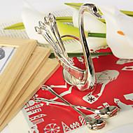 abordables Regalos Prácticos-Set de cucharas de cisne (6 piezas) hermosos y hermosos favores prácticos