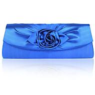 levne Tašky-Dámské Tašky Satén Večerní kabelka Květiny pro Večírek Námořnická modř