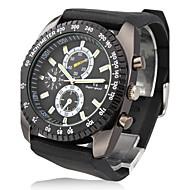 V6 Masculino Relógio Militar Relógio de Pulso Quartzo Quartzo Japonês Silicone Banda Preta Preto