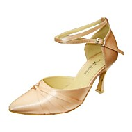 baratos Sapatilhas de Dança-Mulheres Sapatos de Dança Moderna / Dança de Salão Tecido elástico Salto Presilha Salto Agulha Não Personalizável Sapatos de Dança Cor de Carne / Preto / Dourado