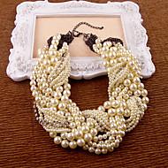 ieftine Bijuterii de Banchet-alb imitație perla stras colier stil clasic feminin